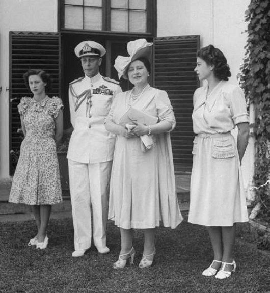 The British Royal family visiting South Africa in 1947