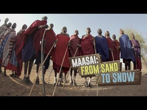 A Tanzanian Maasai tribe's singing and jumping dance in their boma - YouTube