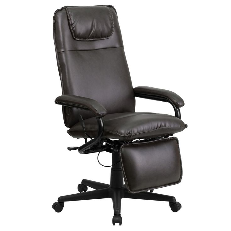 Offex High Back Brown Leather Executive Reclining Office Chair [OF-BT-70172-BN-GG]