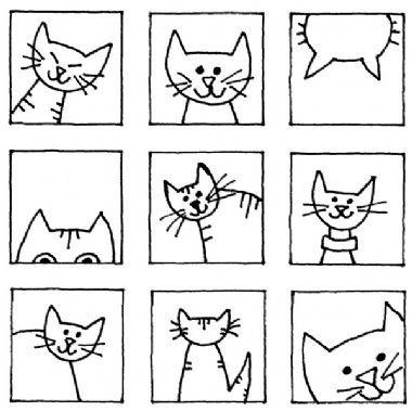 Personal Impressions Cat Blocks Rubber Stamp