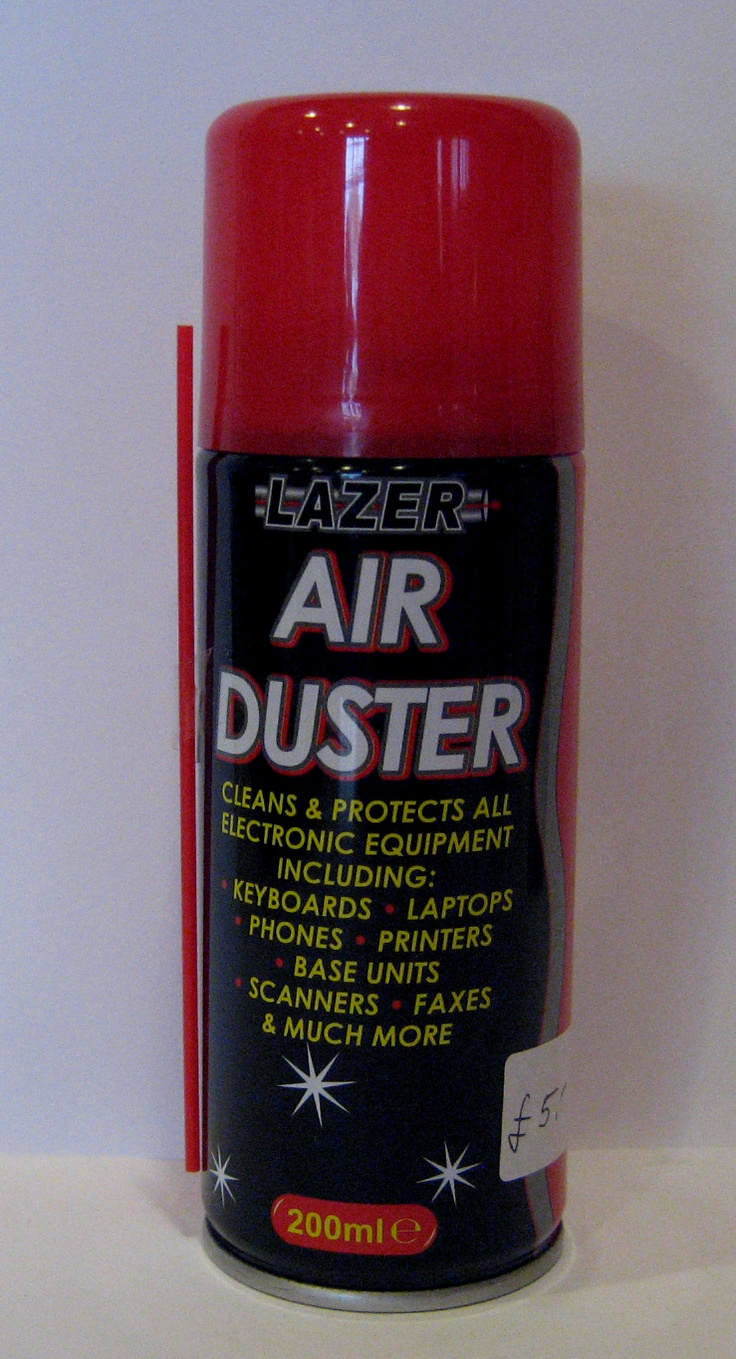 LAZER Air Duster.  Cleans and protects all electronic equipment including keyboards, laptops, phones, printers, base units, scanners and much more. £5.00