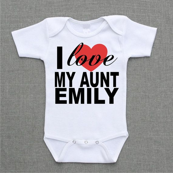 97 best aunt coco images on pinterest baby gifts baby i love my aunt or sister brother uncle mommy daddy personalized onesie baby bodysuit romper creeper negle Image collections