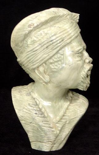 Shona stone sculpture butter jade male bust zimbabwe