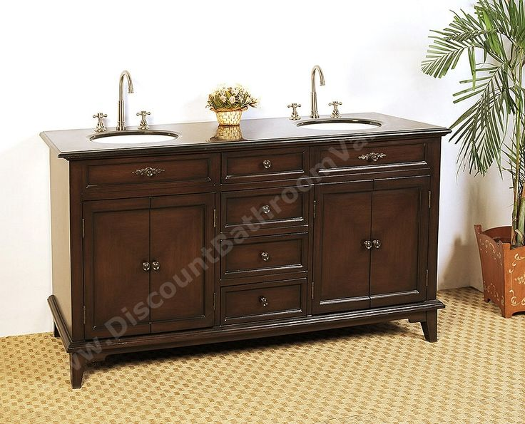 Best Double Traditional Bathroom Vanities Images On Pinterest - 66 inch bathroom vanity for bathroom decor ideas