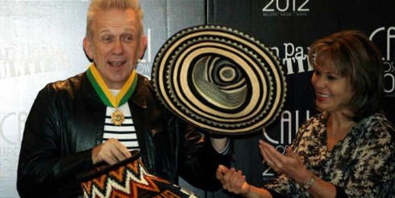 Jean Paul Gaultier se puso el sombrero vueltiao en Cali