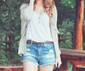 even a simple summer outfit can be complemented with curls