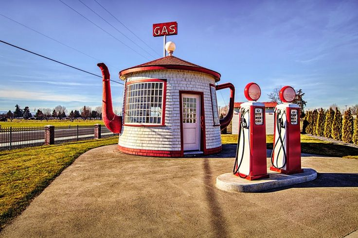 Don't miss the historic Teapot Dome Service Station located in Zillah, Washington. This teapot shaped landmark was originally built in 1922 and was inspired by the Harding Administration Teapot Dome Scandal. Over the years it has served as a gas station and is now home to Zillah's Visitor Center. (Photo by Rick Williams) Yakima Valley