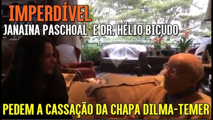 Dr. Hélio Bicudo e Janaina Paschoal defendem a cassação da chapa Dilma-T...
