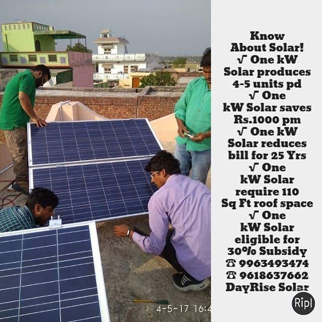 Know About Solar One Kw Solar Produces 4 5 Units Pd One Kw Solar Saves Rs 1000 Pm One Kw Solar Reduces Bill For 25 Yrs One Kw Sola Solar Reduce Bills The Unit