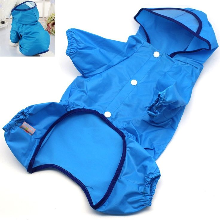 Dog Raincoat Rain Jacket Waterproof With Hood- MOTONG Rain Jacket for Dog  With Four Limbs