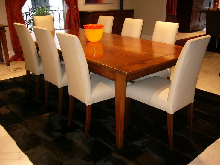 French Provincial Table with Reverse Ends Cherry Wood