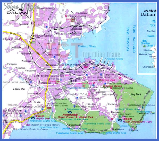 awesome Dalian Map Tourist Attractions