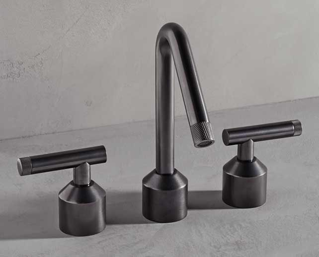 <p>Employing knurling details within two spout and handle options, Urbane, offers a distinctly unique industrial visual for the discerning eye.</p> Watermark Collection