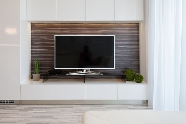 Living Room TV unit and storage bespoke built in furniture detail - by Goldfish-Interiors