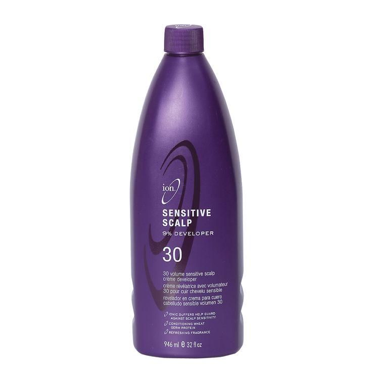 Ion Color Brilliance Sensitive Scalp 30 Volume Crème Developer works with all permanent hair colors or lighteners.