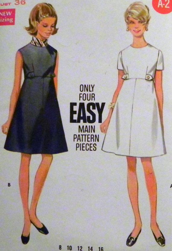 1960s A Line Sundress sewing pattern by retroactivefuture on Etsy, $14.00