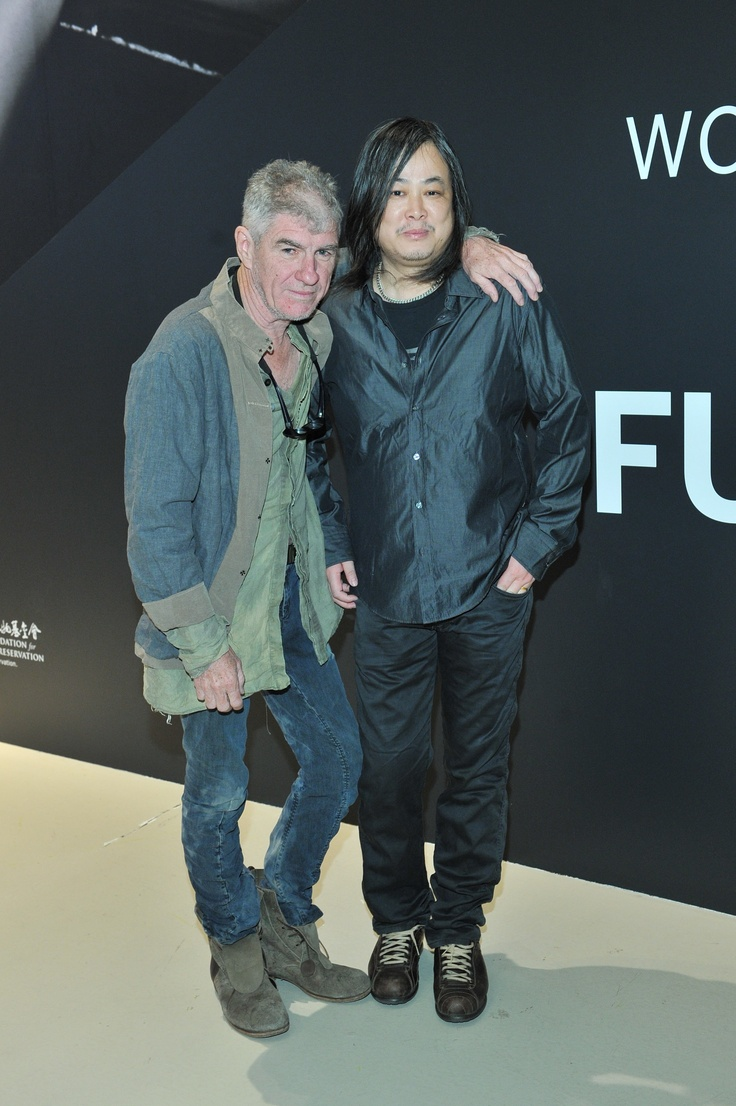 Christopher Doyle and Yang Fudong attending the press event for their respective exhibitions
