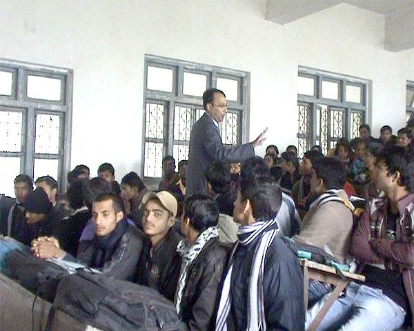 Counseling and motivating the grade 11th  and 12th students of RR campus Janakpur under Youth Empowerment Program.