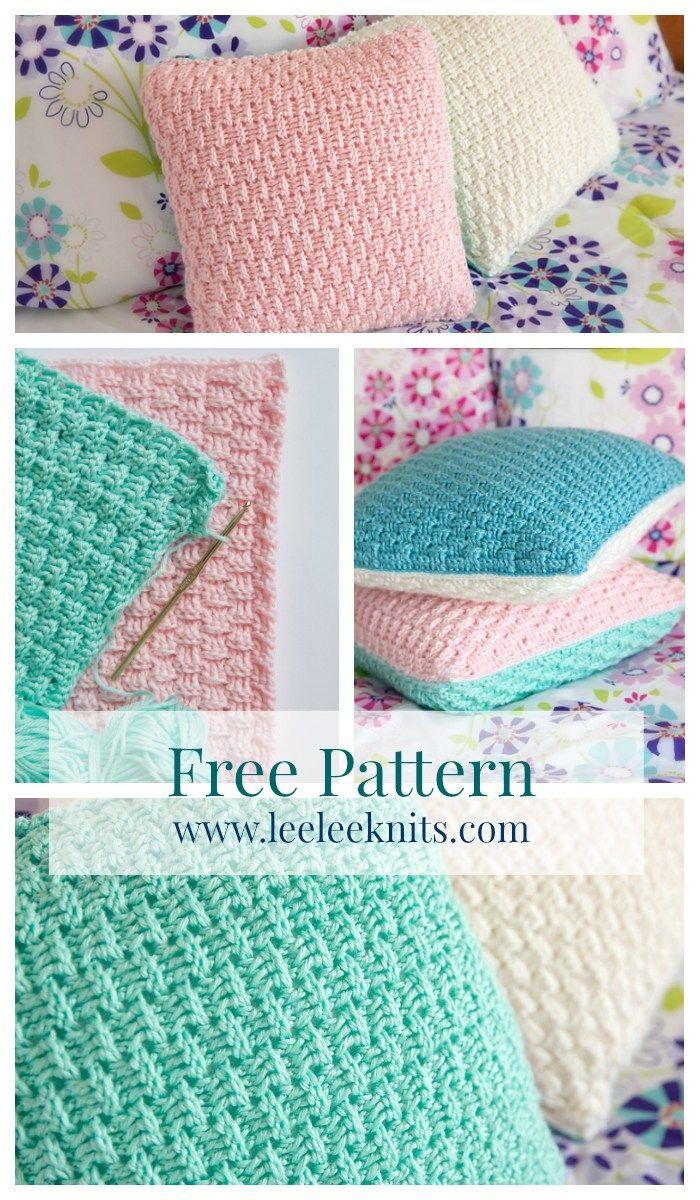 Free Pillow Cover Crochet Pattern. Click to Read or Pin and Save for Later!