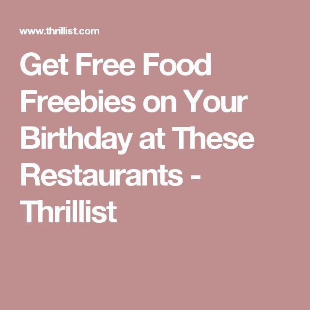Get Free Food Freebies on Your Birthday at These Restaurants - Thrillist