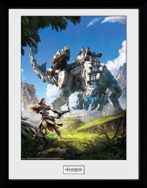 Horizon Zero Dawn Poster im Rahmen Key Art 45 x 34 cm