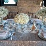 Centros de mesas en bodas invernales
