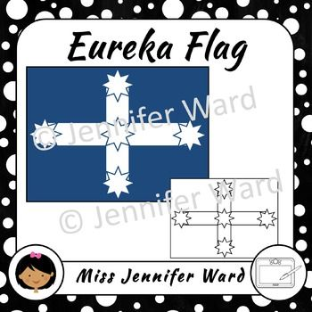 A collection of clipart images of the Eureka Flag - used at the Australian gold rush rebellion known as the Eureka Stockade in 1854 in Ballarat, Victoria.