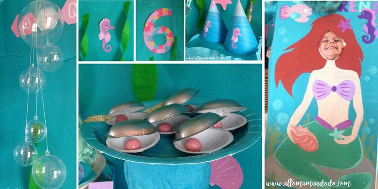 """Idées super simple pour anniversaire """"Petite Sirène"""" !"""