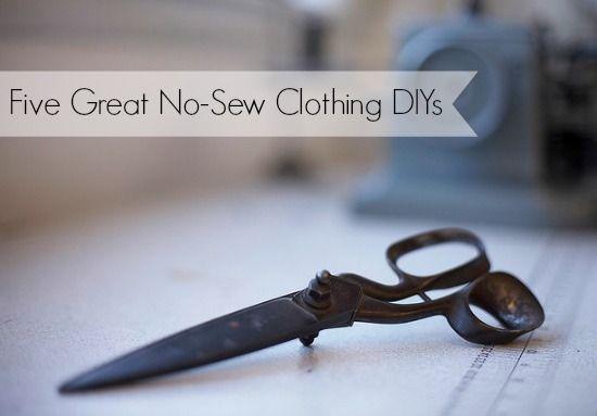 Five Great No-Sew Clothing DIYs