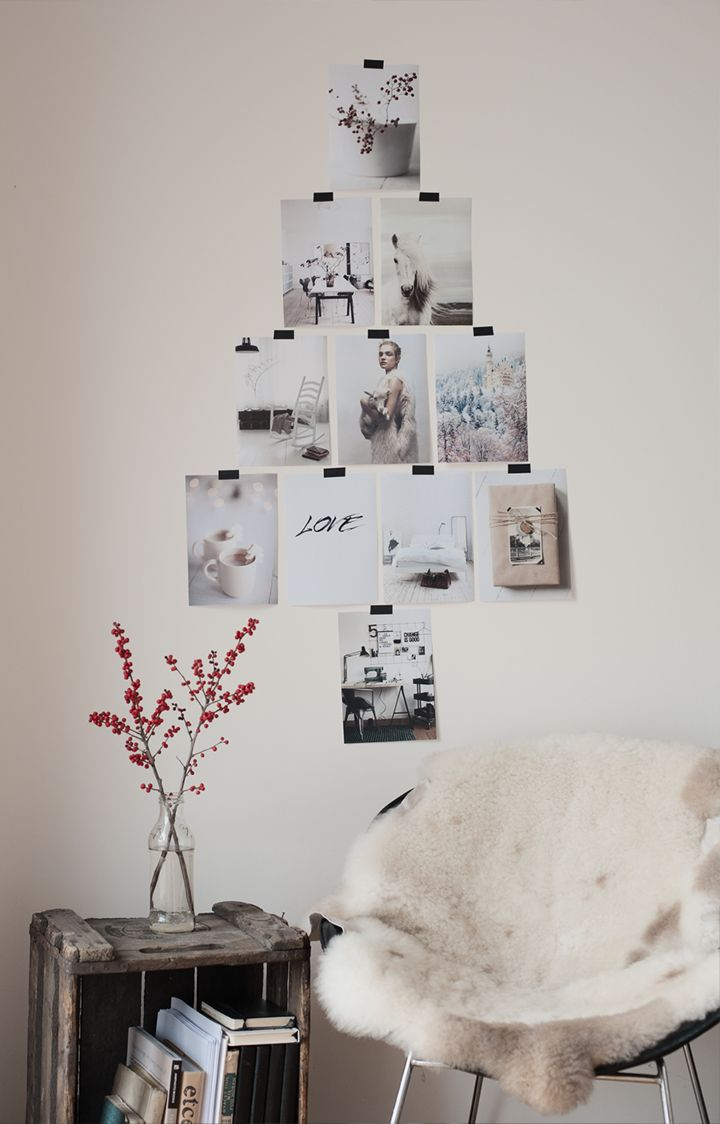 DIY Photo Christmas Tree