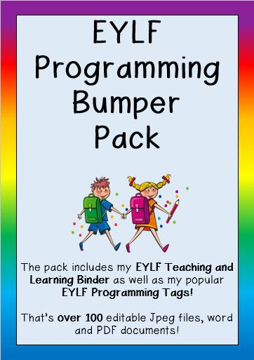 This pack combines two of my most popular products, my 'Complete EYLF Teaching and Learning Binder' and my 'EYLF Programming Tags' OVER 100 EDITABLE WORD DOCUMENTS, PDF FILES AND JPEG IMAGES