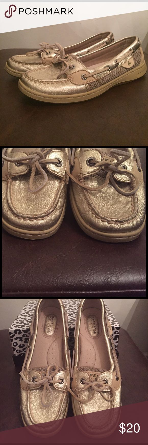 Sperry Top-Sider gold metallic angelfish Lightly worn gold metallic sperry angelfish size 6.5 Sperry Top-Sider Shoes Flats & Loafers