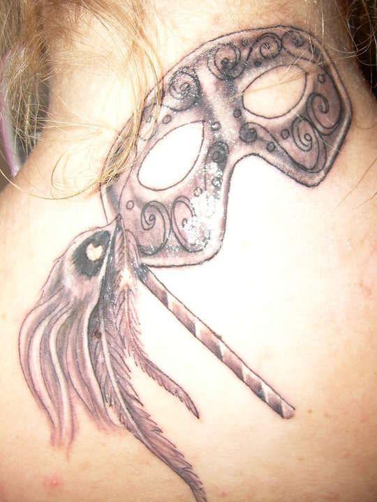 masquerade mask tattoo   My Masquerade mask tattoo
