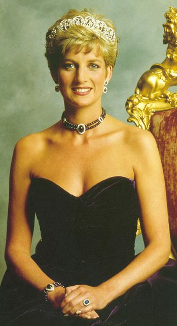 Princess Diana wearing the Spencer tiara  I also love the fact that Princess Di wore it so much, it was such a wonderful way to represent her family.  I wish Kate would have worn it when she married Will.