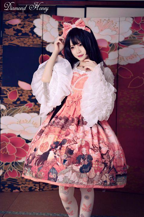 Diamond Honey -Taisho Roman Fantastic Tale- Kimono Style Lolita JSK Version II