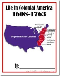 free printable life in colonial america book for homeschool kids