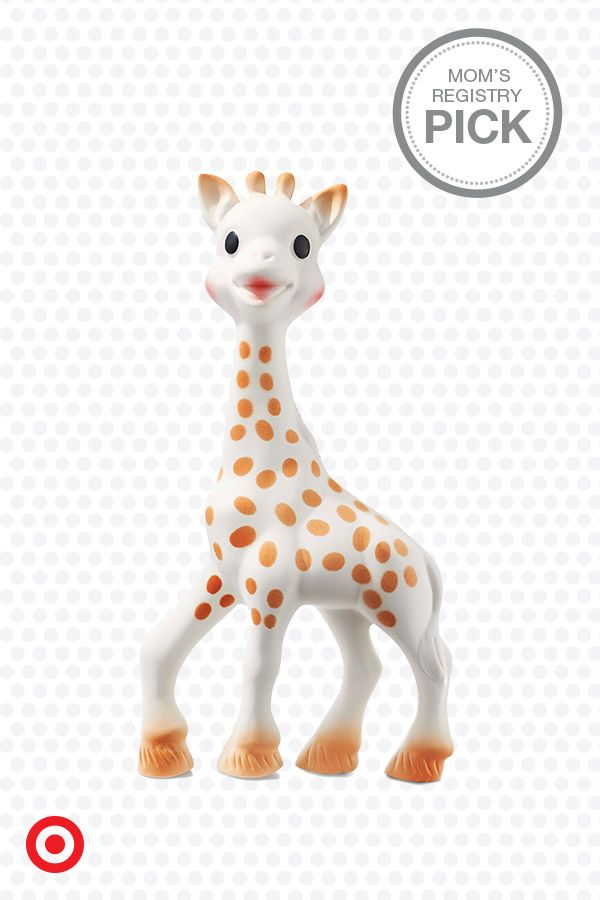 For teething, cuddling or just palling around the house, Sophie the Giraffe Teether is sure to become one of Baby's best friends. Sophie is made of natural rubber, so she is soft, flexible and easy to grab. If Baby's happy, everybody's happy.