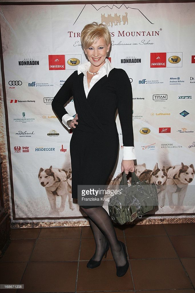 Claudia Jung attends the After Party of the first celebrity Dog Sled Race, in Kühtai.