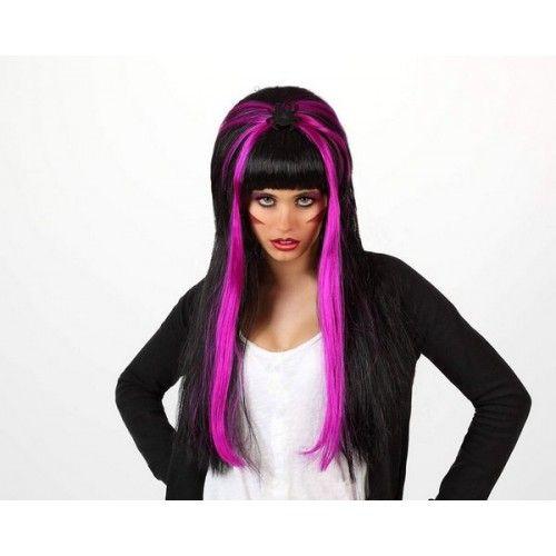 Hair Wig Spider on Black & Purple Long
