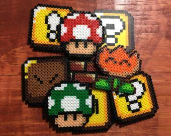 Ähnliche Artikel wie Kühlschrank Magnet-Diorama von Super Mario World, eine 16-Bit-Perlen-Sprite-Reihe auf Etsy