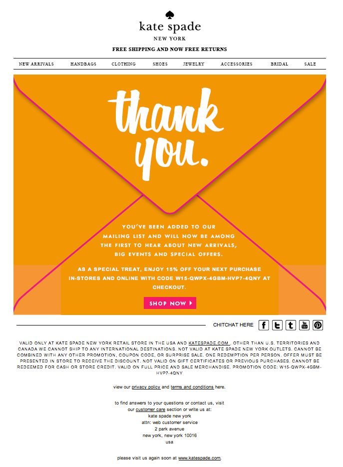 251 best loyalty images on Pinterest Email newsletter design - thank you email template