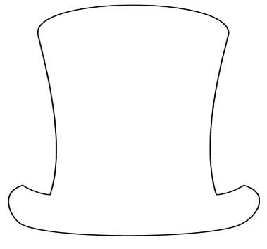 494 best omalovanky makety images on pinterest human for Top hat template for kids