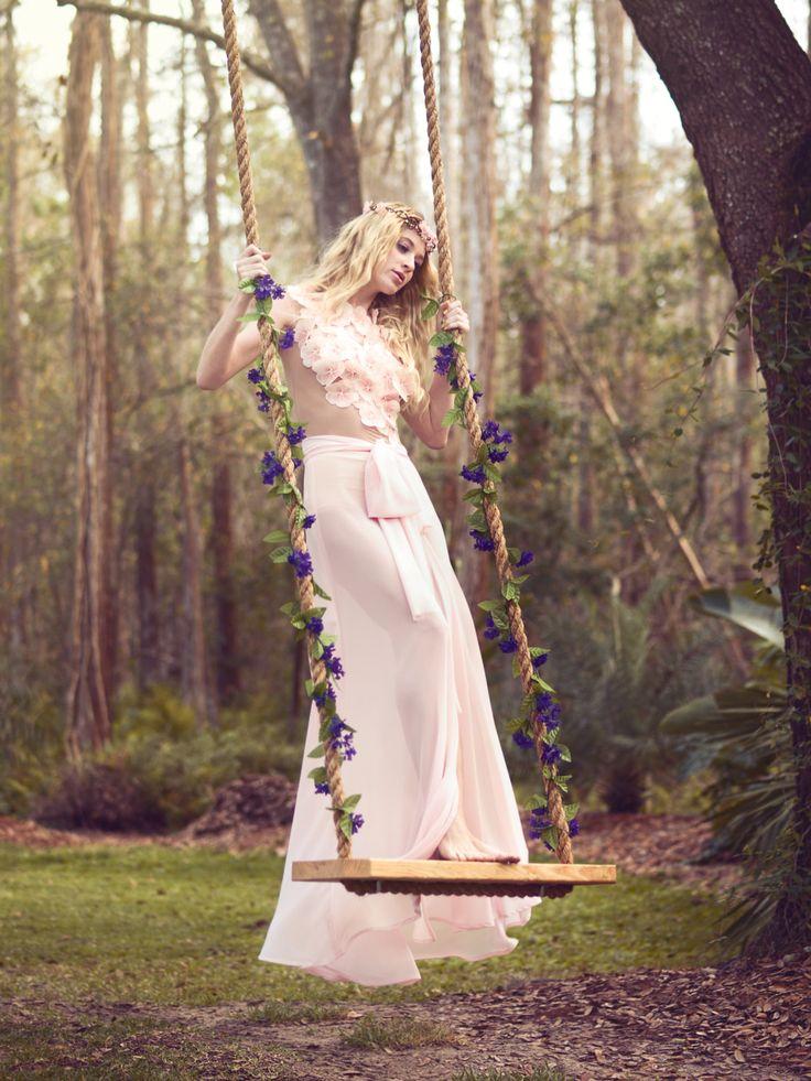 Model: Laura Kirkpatrick  Photographer: Ashley Holloway  Designer: Sandra C. Hagen  Flower Crown: SerenityCrystal  MUA: Sherry Restifo  Hair Stylist: Laura Barone