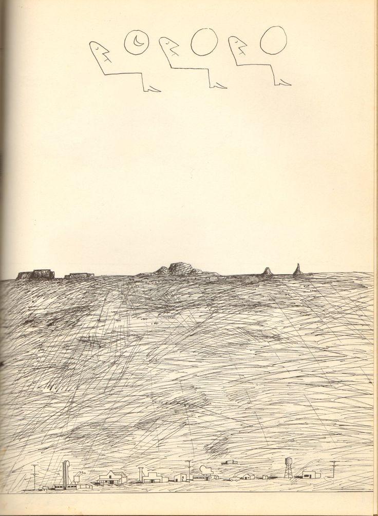 Airplane. Saul Steinberg.