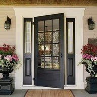 Love the color and design of this front door!