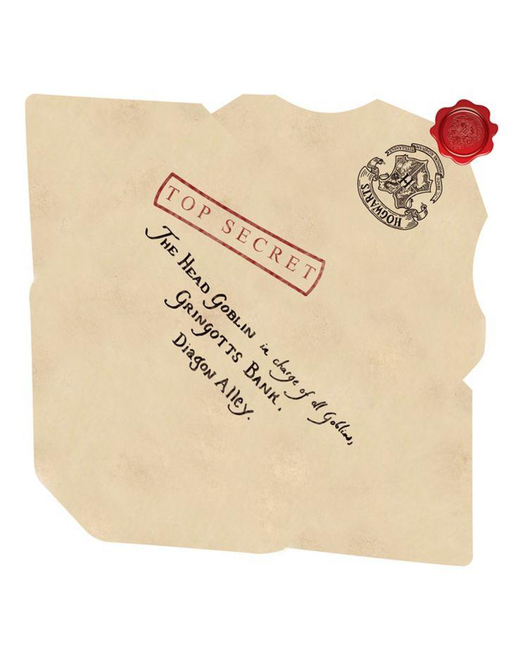 Carta de Dumbledore para o Gringotts Bank - Harry Potter Replicas