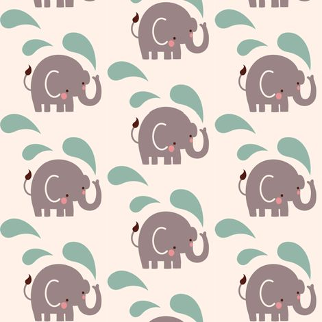 Paisley elephant repeat fabric by bora on Spoonflower - custom fabric - to make into a lampshade