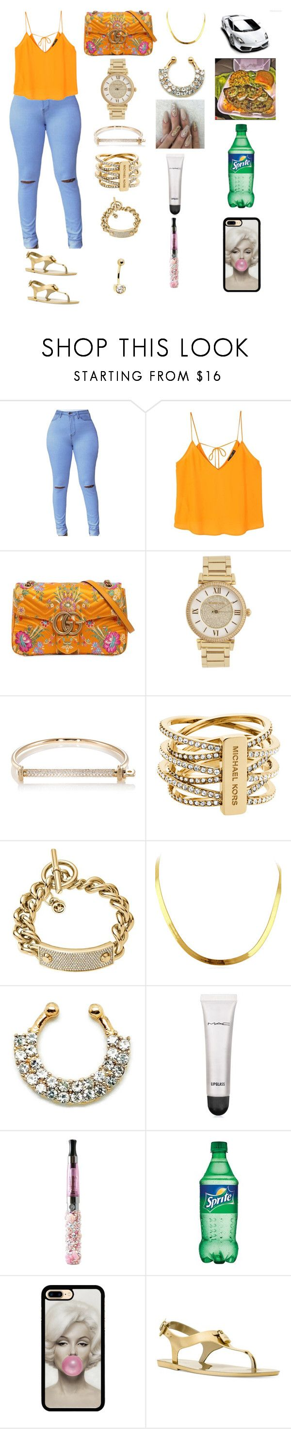 """Never settle for less 😘work"" by manija-jones on Polyvore featuring MANGO, Gucci, Michael Kors, MIANSAI and MAC Cosmetics"