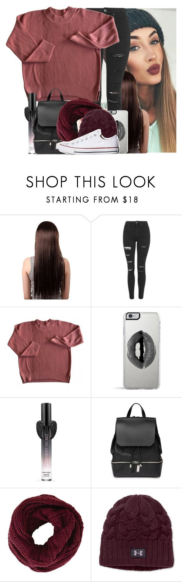 """""""Nobody sees, nobody knows, we are a secret, can't be exposed"""" by yazbo ❤ liked on Polyvore featuring Topshop, Lipsy, Victoria's Secret, COSTUME NATIONAL, BCBGMAXAZRIA, Under Armour, Converse, women's clothing, women's fashion and women"""