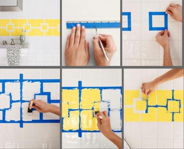 die besten 25+ bad fliesen streichen ideen auf pinterest, Badezimmer